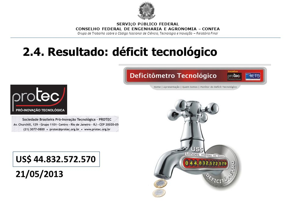 2.4. Resultado: déficit tecnológico