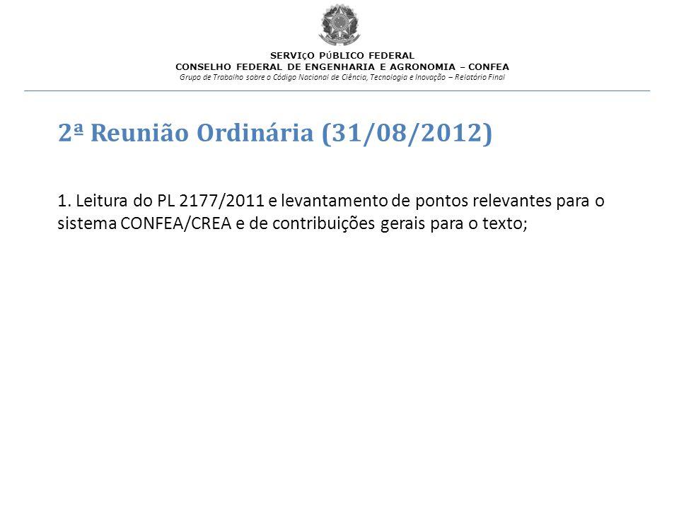 2ª Reunião Ordinária (31/08/2012)