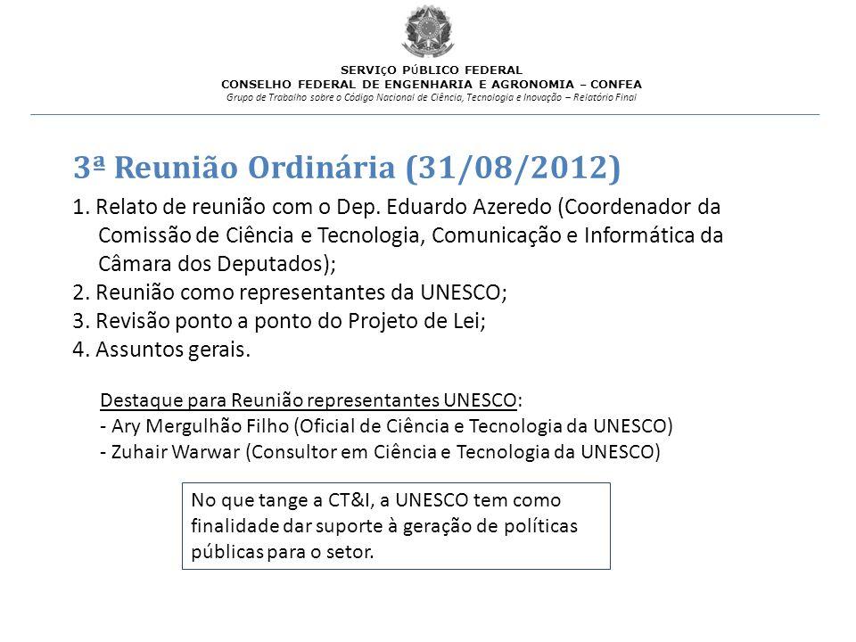 3ª Reunião Ordinária (31/08/2012)