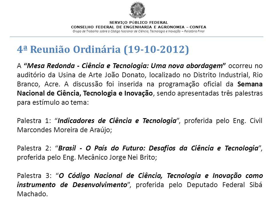 4ª Reunião Ordinária (19-10-2012)