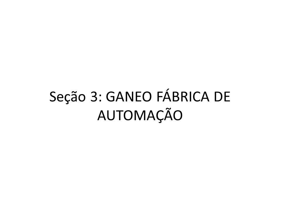 Seção 3: GANEO FÁBRICA DE AUTOMAÇÃO