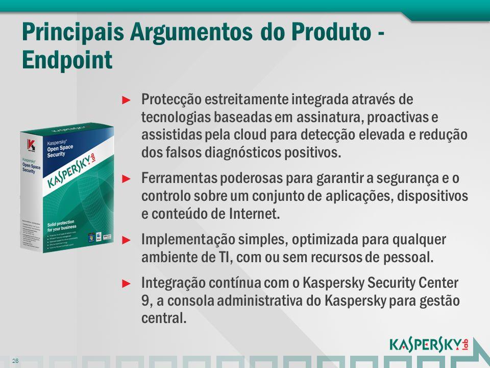 Principais Argumentos do Produto - Endpoint