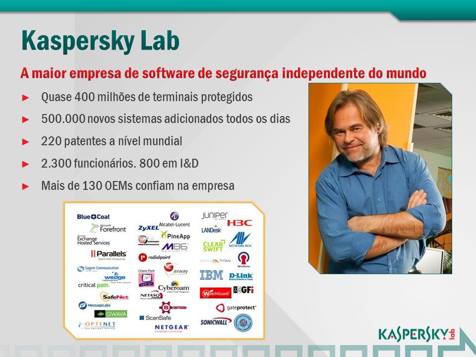 A maior empresa de software de segurança independente do mundo