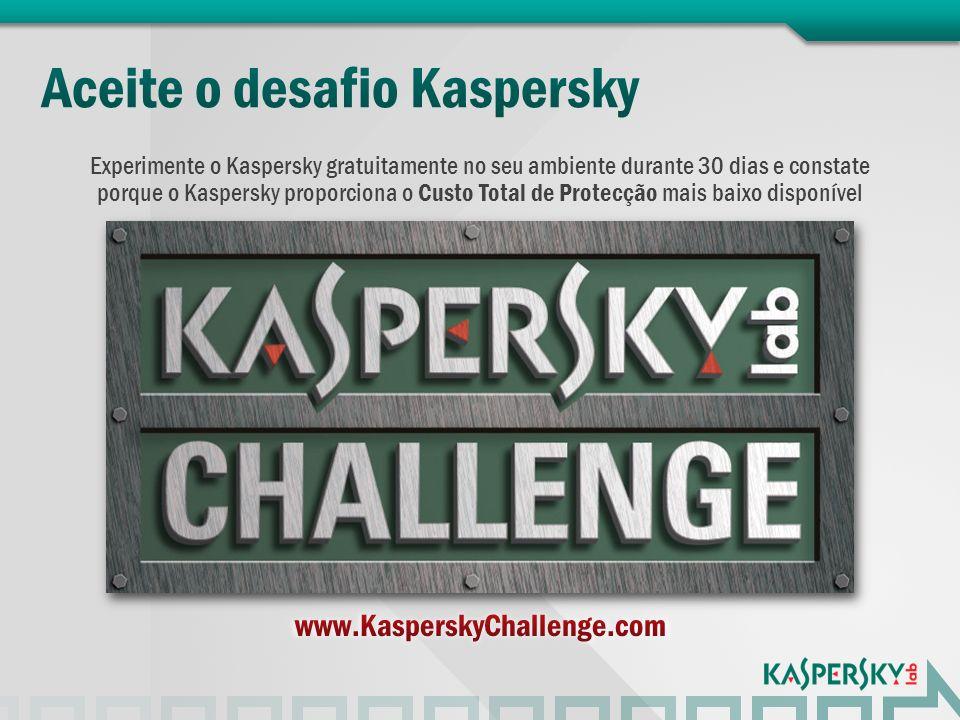 Aceite o desafio Kaspersky