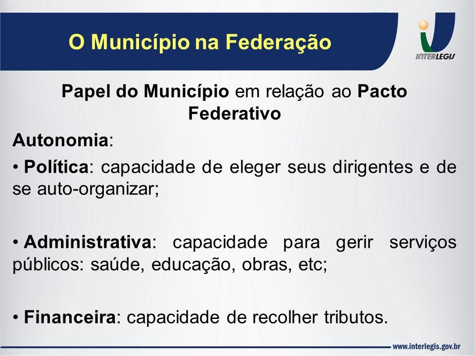 O Município na Federação