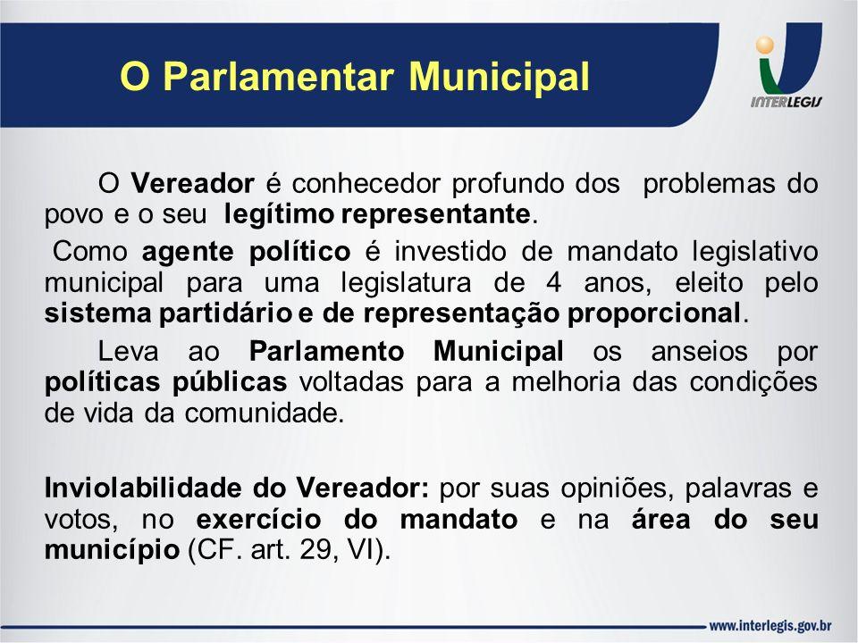 O Parlamentar Municipal