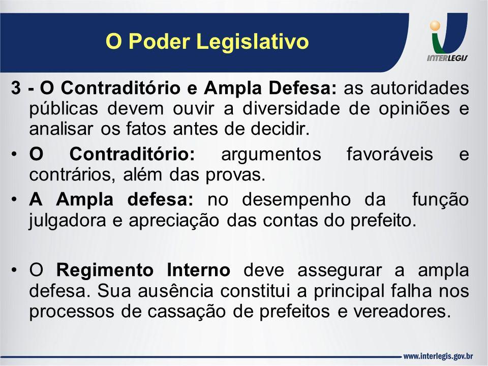 O Poder Legislativo
