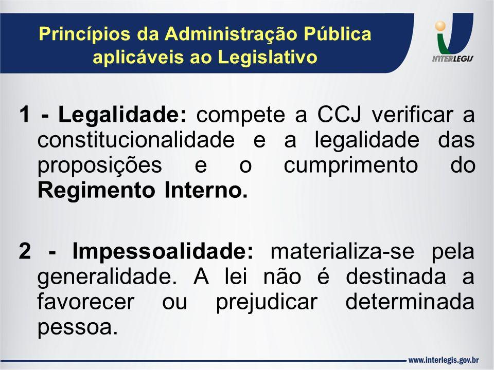 Princípios da Administração Pública aplicáveis ao Legislativo