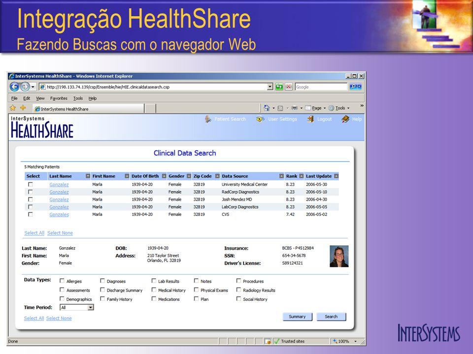 Integração HealthShare Fazendo Buscas com o navegador Web