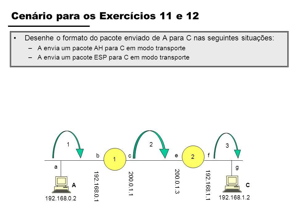 Cenário para os Exercícios 11 e 12