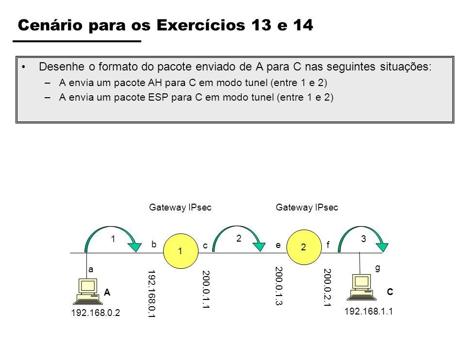 Cenário para os Exercícios 13 e 14