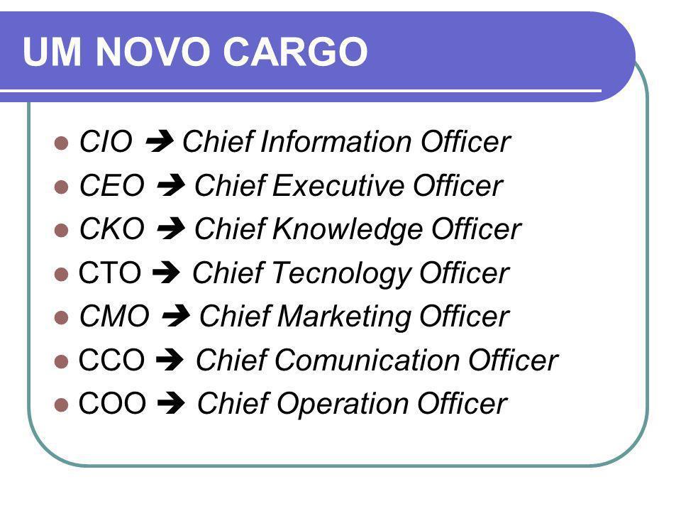 UM NOVO CARGO CIO  Chief Information Officer