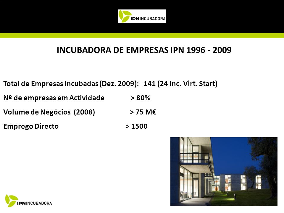 INCUBADORA DE EMPRESAS IPN 1996 - 2009