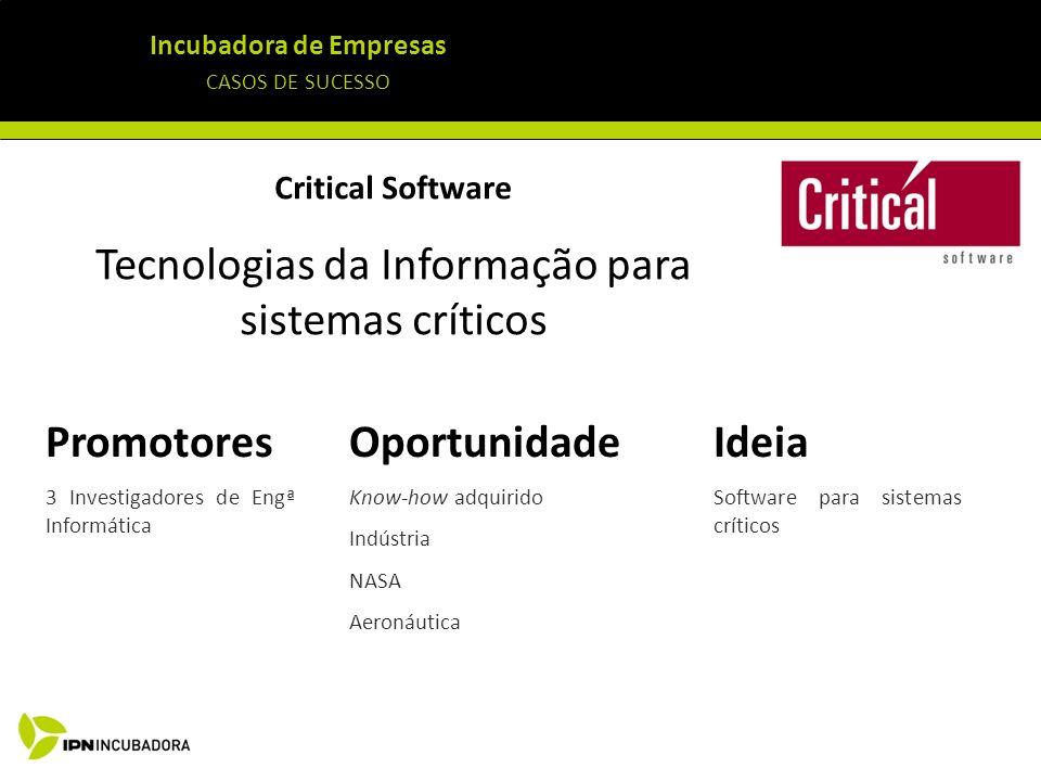 Tecnologias da Informação para sistemas críticos