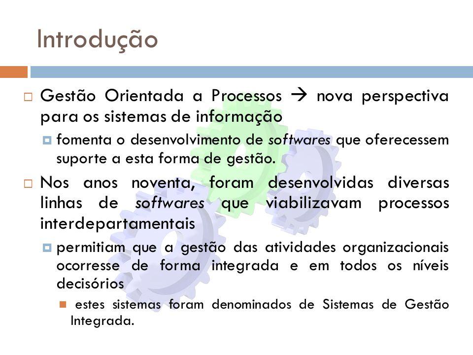Introdução Gestão Orientada a Processos  nova perspectiva para os sistemas de informação.