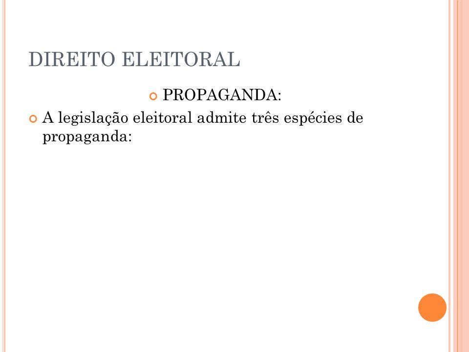 DIREITO ELEITORAL PROPAGANDA: