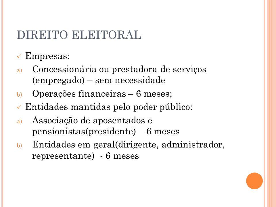 DIREITO ELEITORAL Empresas: