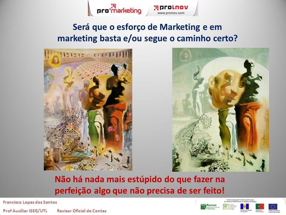 Será que o esforço de Marketing e em marketing basta e/ou segue o caminho certo