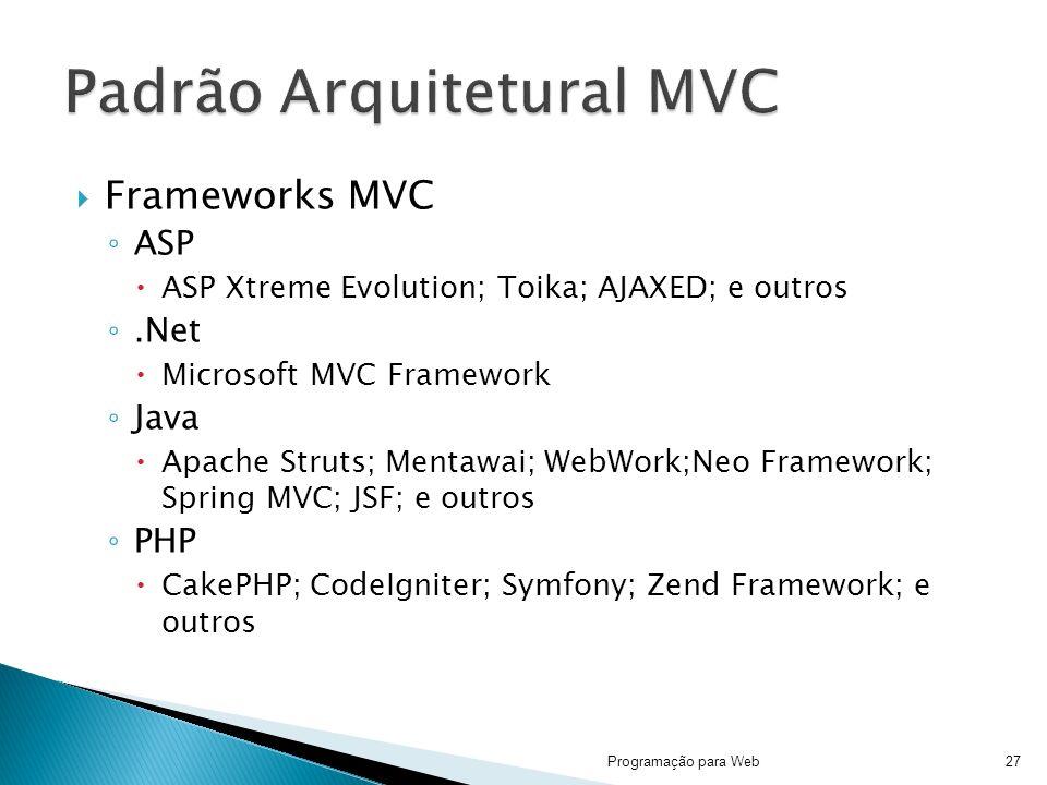 Padrão Arquitetural MVC