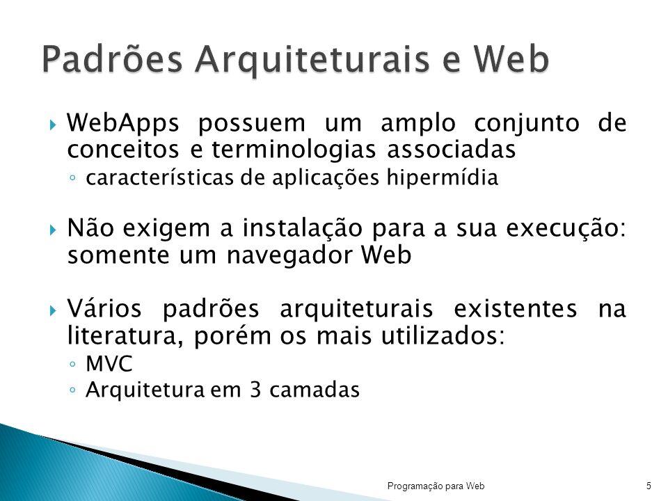 Padrões Arquiteturais e Web