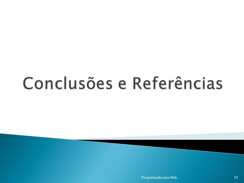 Conclusões e Referências