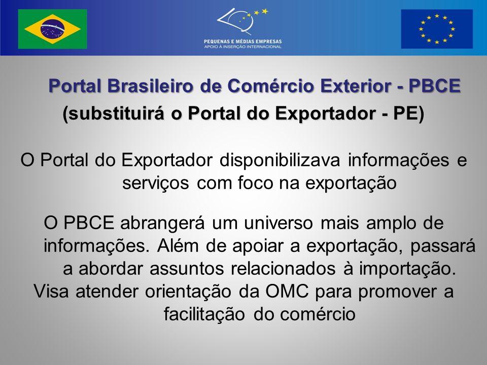 (substituirá o Portal do Exportador - PE)