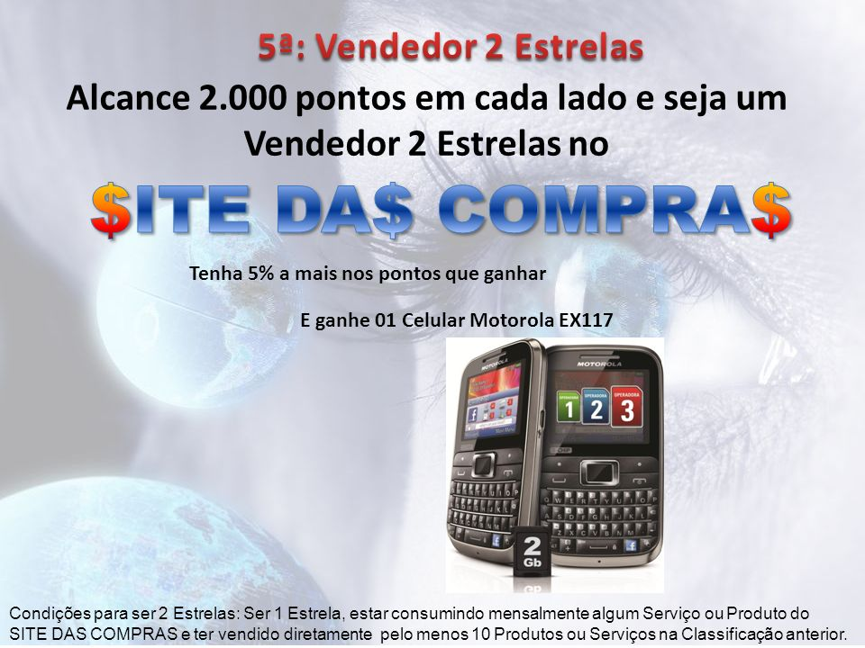 $ITE DA$ COMPRA$ 5ª: Vendedor 2 Estrelas