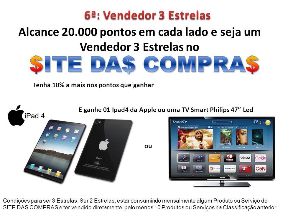 $ITE DA$ COMPRA$ 6ª: Vendedor 3 Estrelas
