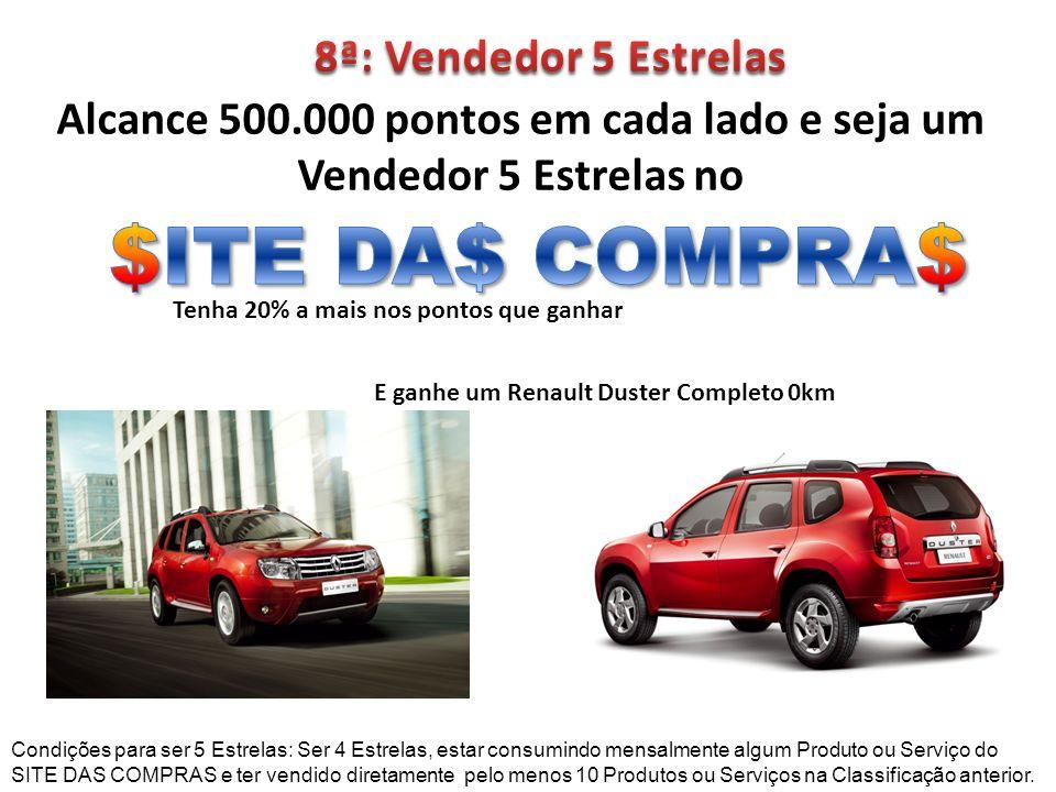 $ITE DA$ COMPRA$ 8ª: Vendedor 5 Estrelas
