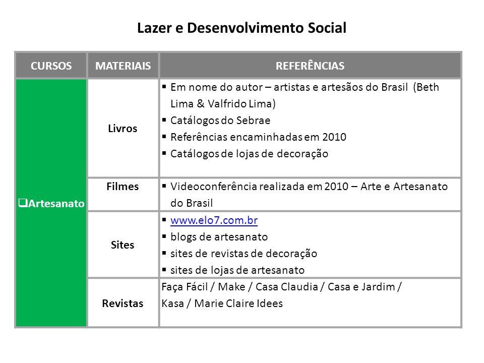 Lazer e Desenvolvimento Social