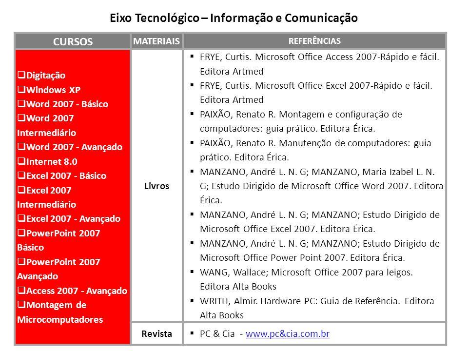 Eixo Tecnológico – Informação e Comunicação
