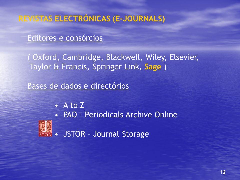 REVISTAS ELECTRÓNICAS (E-JOURNALS)