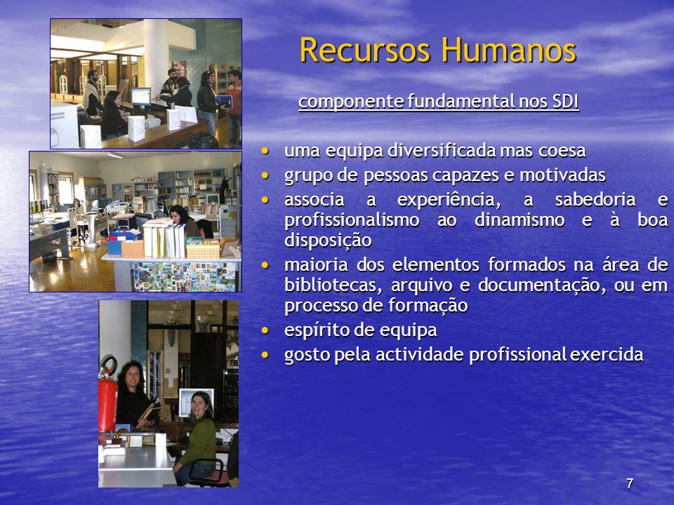 Recursos Humanos componente fundamental nos SDI
