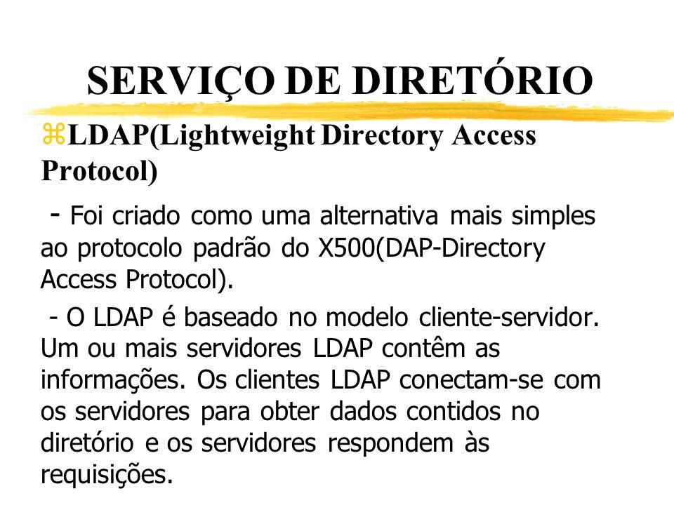 SERVIÇO DE DIRETÓRIO LDAP(Lightweight Directory Access Protocol)