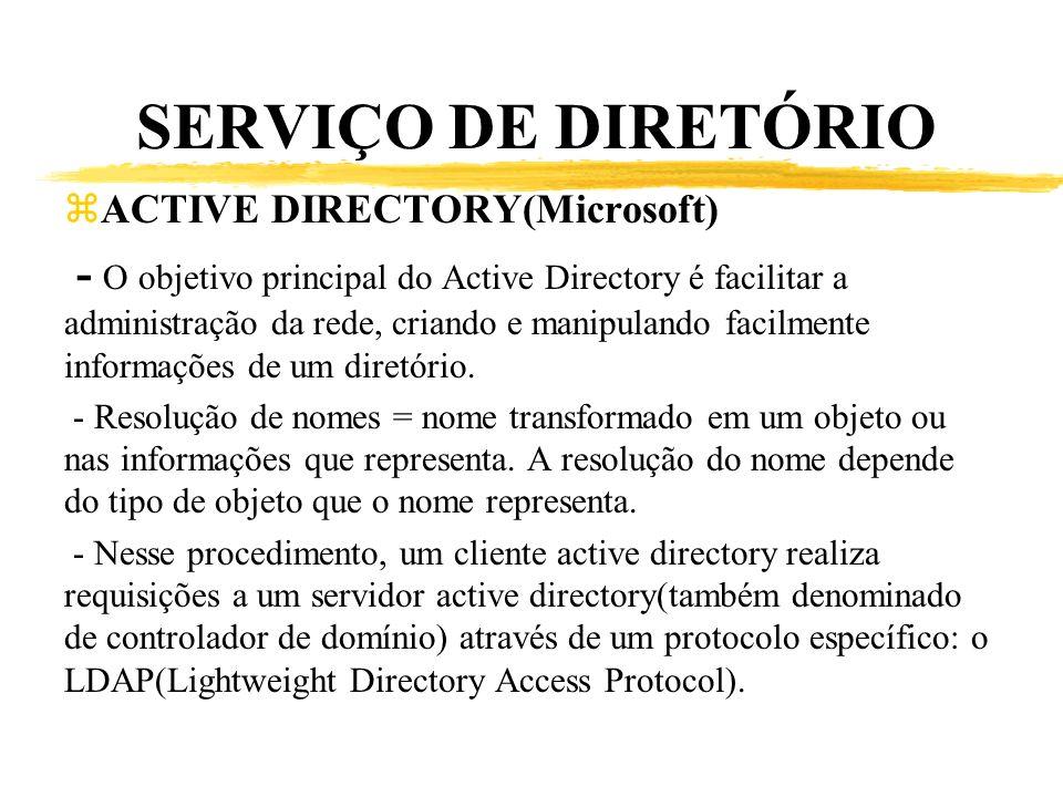 SERVIÇO DE DIRETÓRIO ACTIVE DIRECTORY(Microsoft)
