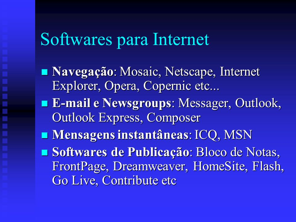 Softwares para Internet