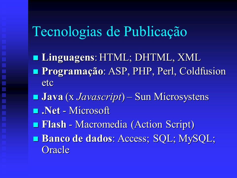 Tecnologias de Publicação