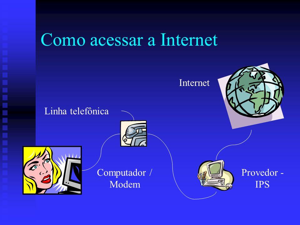 Como acessar a Internet