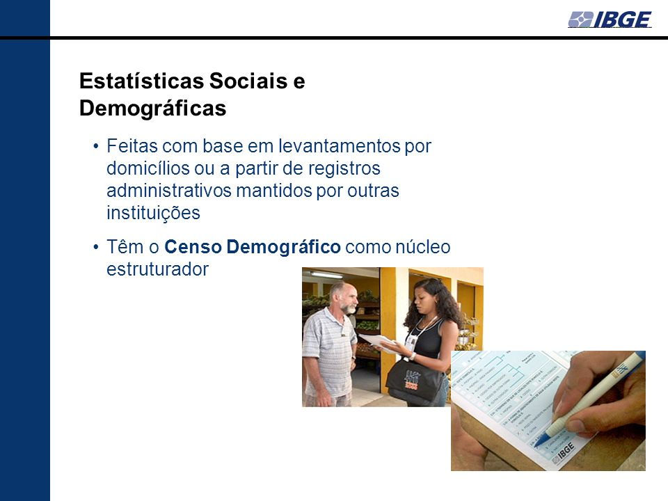 Estatísticas Sociais e Demográficas