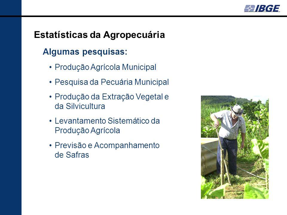 Estatísticas da Agropecuária