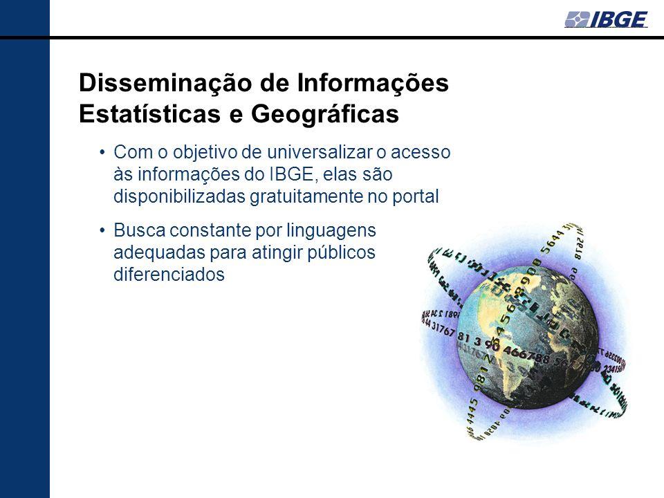 Disseminação de Informações Estatísticas e Geográficas