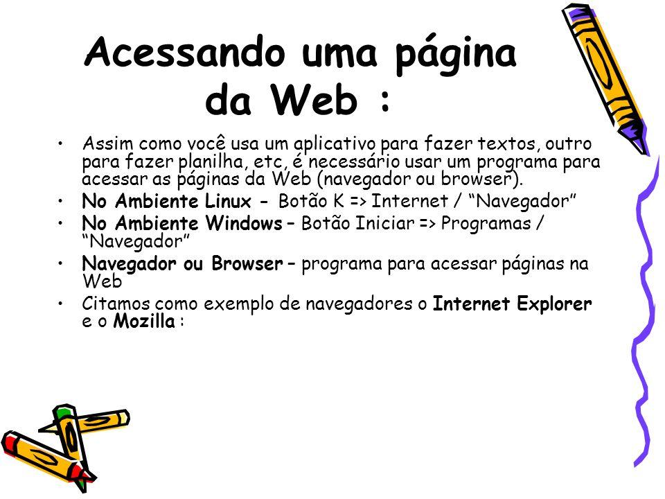Acessando uma página da Web :