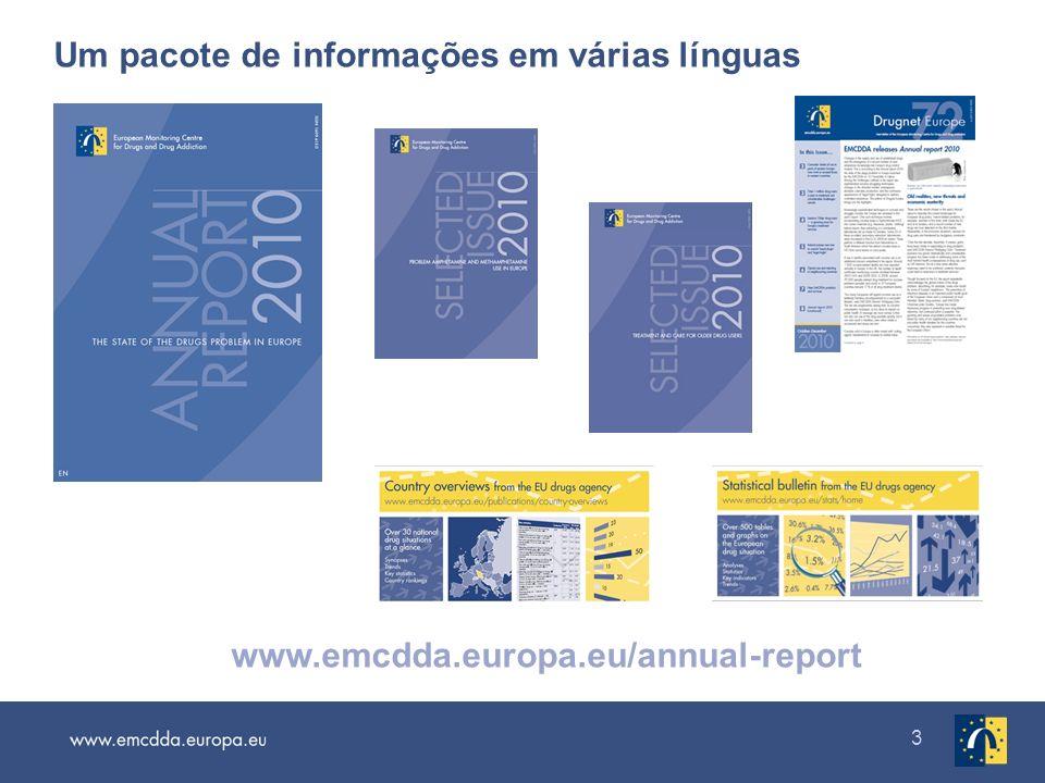 Um pacote de informações em várias línguas