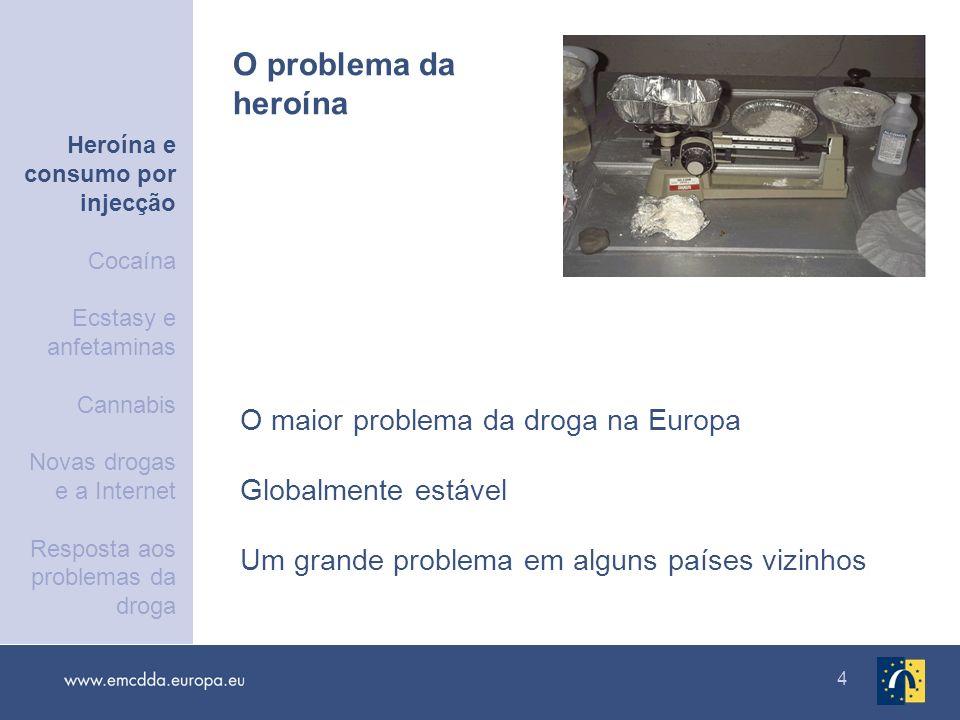 O problema da heroína O maior problema da droga na Europa