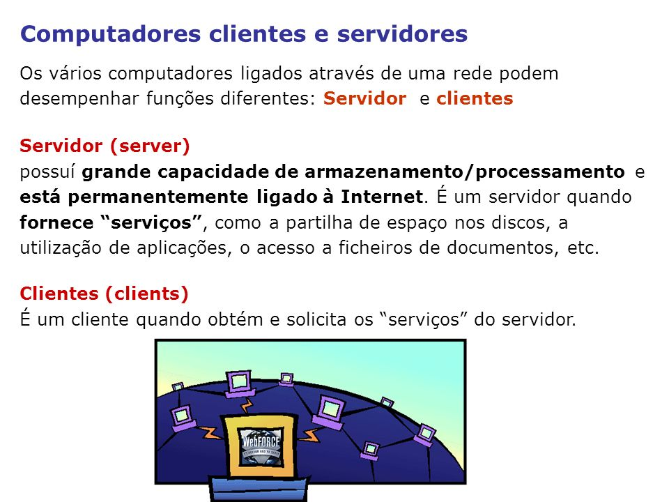 Computadores clientes e servidores