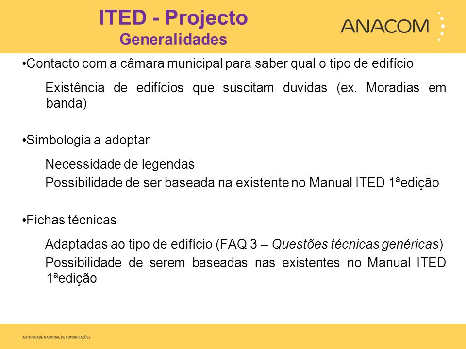 ITED - Projecto Generalidades