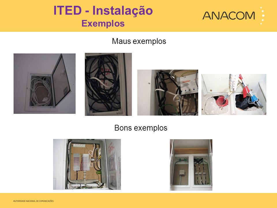 ITED - Instalação Exemplos