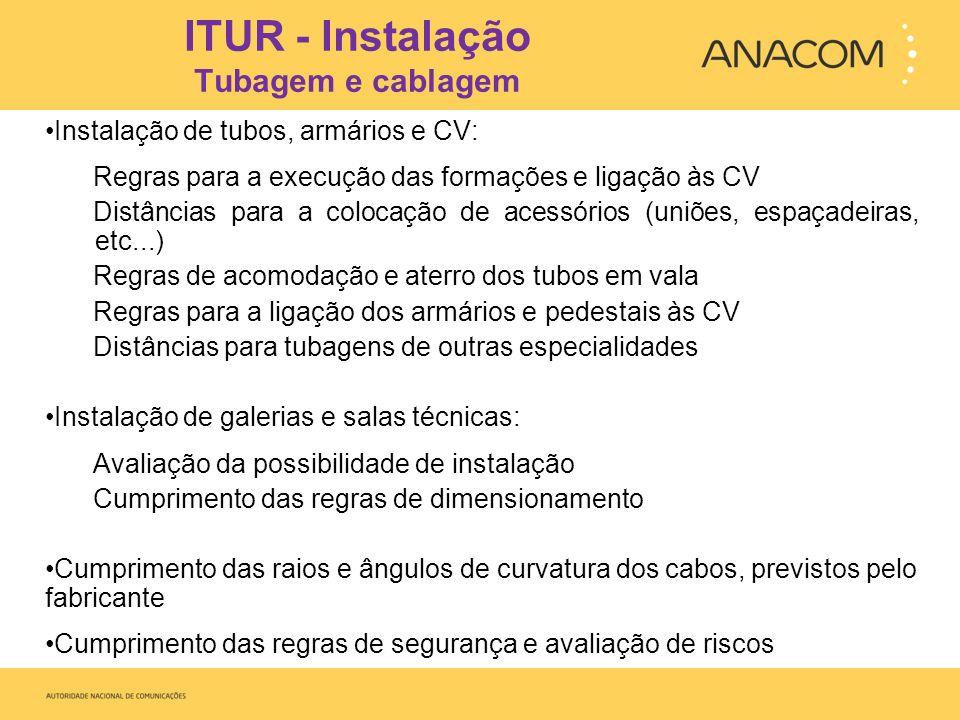 ITUR - Instalação Tubagem e cablagem
