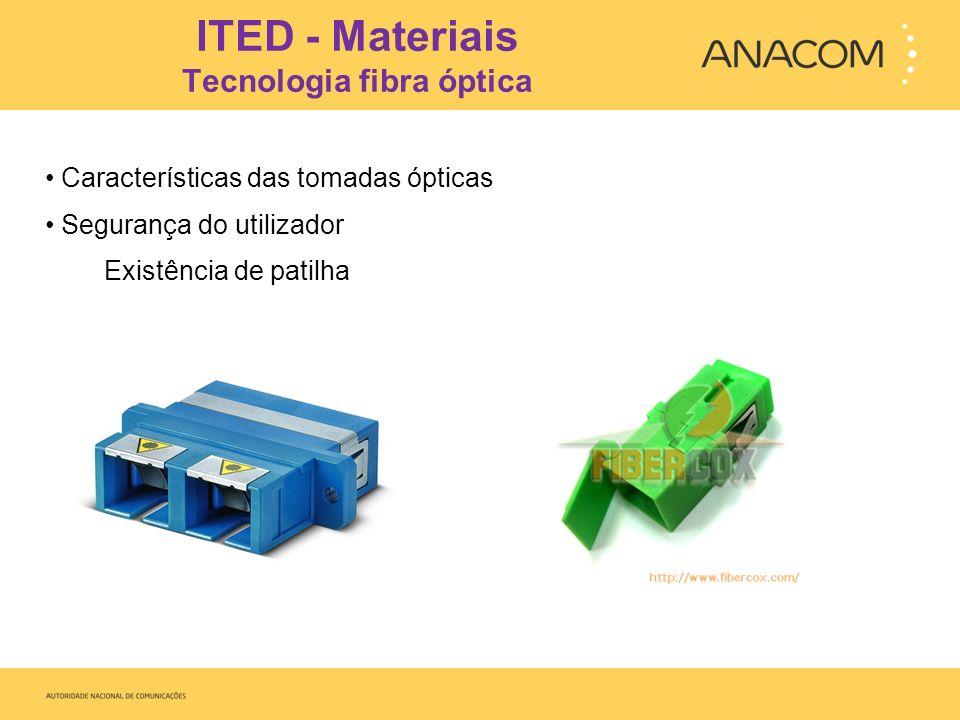 ITED - Materiais Tecnologia fibra óptica