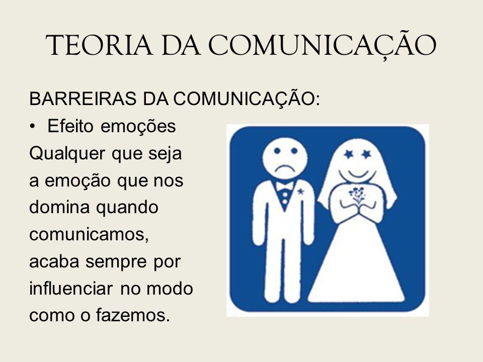 TEORIA DA COMUNICAÇÃO BARREIRAS DA COMUNICAÇÃO: Efeito emoções
